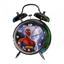 Réveil métal Spiderman licence officielle Marvel enfant chambre idée cadeau anniversaire noël neuf