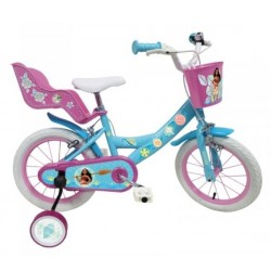 """Vélo 14"""" Vaiana Disney enfant 5/7 ans licence officielle idée cadeau anniversaire noël plein air neuf"""