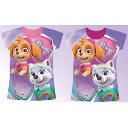 T-Shirt manches courtes Pat Patrouille Paw Patrol Fille skye Stella du 2 au 6 ans licence officielle ENFANT VETEMENT NEUF
