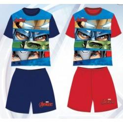 Pyjama Court 2 pièces Avengers du 3 au 8 ans GARCON VETEMENT SOUS LICENCE OFFICIELLE MARVEL NEUF