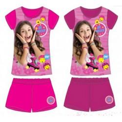 Ensemble Pyjama court 2 pièces Soy Luna du 4 au 12 ans FILLE VETEMENT SOUS LICENCE OFFICIELLE NEUF