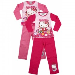 Ensemble pyjama Long Hello Kitty du 2 au 6 ans FILLE VETEMENT SOUS LICENCE OFFICIELLE NEUF