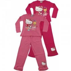 Ensemble pyjama Long Hello Kitty V2 du 2 au 6 ans FILLE VETEMENT SOUS LICENCE OFFICIELLE NEUF