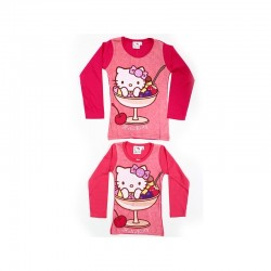 T-shirt manches longues Hello Kitty V1 du 2 au 6 ans licence officielle FILLE VETEMENT NEUF