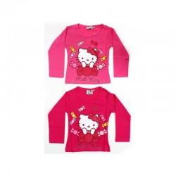 T shirt manches longues Hello Kitty du 2 au 6 ans sous licence officielle FILLE VETEMENT NEUF