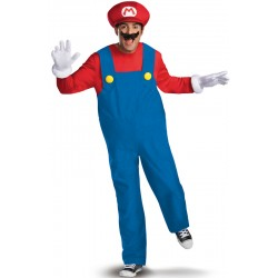 Déguisement Mario Deluxe Adulte taille M AU XXL carnaval anniversaire mariage NEUF
