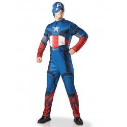 Déguisement adulte luxe Captain America Avengers taille M/L OU XL carnaval anniversaire NEUF