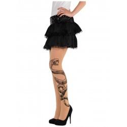 Collant tattoo vipère femme Déguisement Halloween fete carnaval neuf