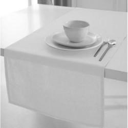 Décoration table fete Chemin de table en coton tissu Blanc 50x150cm neuf