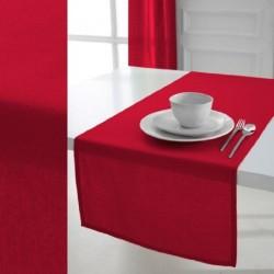 Décoration table fete Chemin de table en coton tissu Rouge 50x150cm neuf