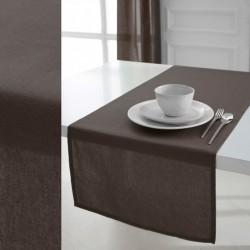 Décoration table fete Chemin de table en coton tissu Bronze 50x150cm neuf