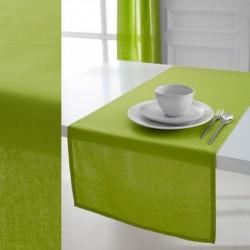Décoration table fete Chemin de table en coton tissu Vert anis 50x150cm neuf