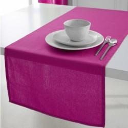 Décoration table fete Chemin de table en coton tissu Fuchsia 50x150cm neuf