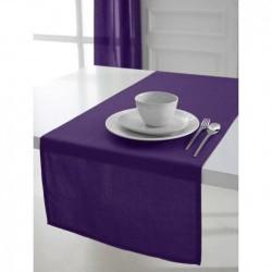Décoration table fete Chemin de table en coton tissu Violet 50x150cm neuf
