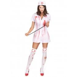 Déguisement infirmière psychopathe Halloween fete carnaval neuf