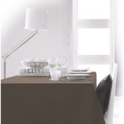 Nappe rectangle Bronze 150x250 anti taches 100% polyester décoration de table neuve
