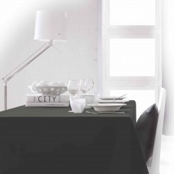 Nappe rectangle gris foncé 150x250 anti taches 100% polyester décoration de table neuve