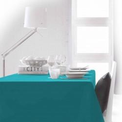 Décoration table fete Nappe rectangle bleu Turquoise 150x250 100% polyester neuve