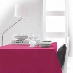Décoration table fete Nappe rectangle Fuchsia 150x250 100% polyester neuve