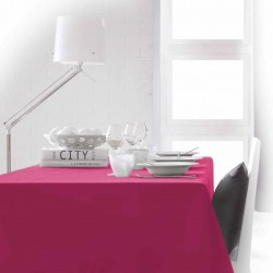 Nappe rectangle fuchsia 150x250 anti taches 100% polyester décoration de table neuve