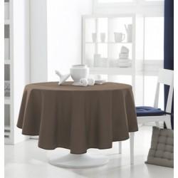 Décoration table feteDécoration table fete Nappe ronde Bronze 180cm anti tache 100% polyester neuve