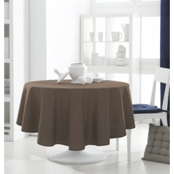 Décoration table feteDécoration table fete Nappe ronde Bronze 180cm anti tache 100% polyester neuve