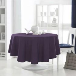 Décoration table fete Nappe ronde Violet 180cm anti tache 100% polyester neuve