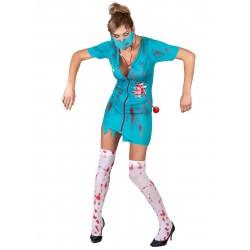 Déguisement infirmière zombie femme Halloween fete carnaval neuf