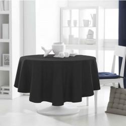 Décoration table fete Nappe ronde noir 180cm anti tache 100% polyester neuve