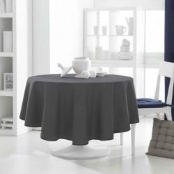 Décoration table fete Nappe ronde Gris Foncé 180cm anti tache 100% polyester neuve