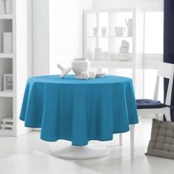 Décoration table fete Nappe ronde Bleu Turquoise 180cm anti tache 100% polyester neuve