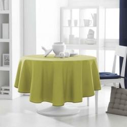 Décoration table fete Nappe ronde Vert Anis 180cm anti tache 100% polyester neuve