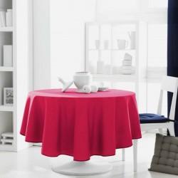 Décoration table fete Nappe ronde Fuchsia 180cm anti tache 100% polyester neuve