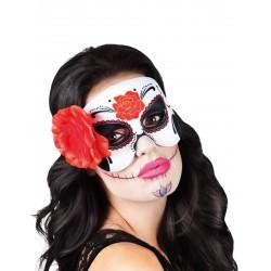 Loup rose rouge femme Dia de los muertos Halloween FETE CARNAVAL neuf
