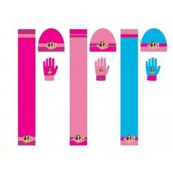 Set ensemble 3 pièces Bonnet + écharpe + gants Soy Luna Disney enfant vêtements fille hiver neuf