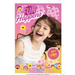 Plaid couverture polaire Soy Luna Disney idée cadeau anniversaire neuf
