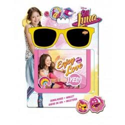 Set Lunette de soleil et porte-monnaie Soy Luna Disney idée cadeau anniversaire neuf