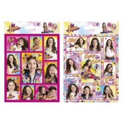 Lot de 2 Planches de stickers déco Soy Luna Disney idée cadeau anniversaire neuf