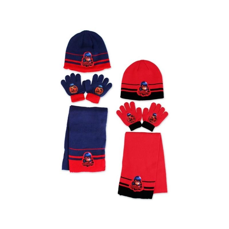LADYBUG - Ensemble Bonnet, gants et echarpe fille - MIRACULOUS ... 868ff50bc99