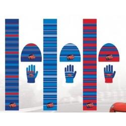 Set ensemble 3 pièces Bonnet + écharpe + gants Cars Disney enfant vêtements garcon hiver neuf