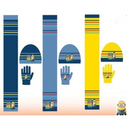 Set ensemble 3 pièces Bonnet + écharpe + gants les Minions Disney enfant vêtements garcon hiver neuf