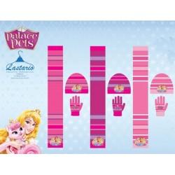 Set ensemble 3 pièces Bonnet + écharpe + gants Princesses Pets Disney vêtements enfant fille hiver neuf