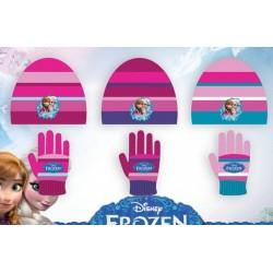Set ensemble 2 pièces bonnet et gants La reine des neiges Frozen Disney enfant fille neuf