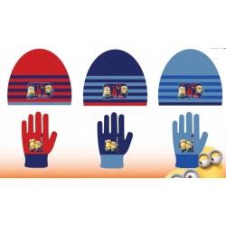 Set ensemble 2 pièces bonnet et gants Minions Disney enfant garcon neuf