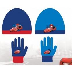 Set ensemble 2 pièces bonnet et gants Cars Flash Mc Queen Disney enfant garcon neuf