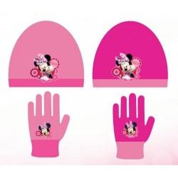 Set 2 pièces bonnet et gants princesse Minnie Disney enfant fille hiver neuf