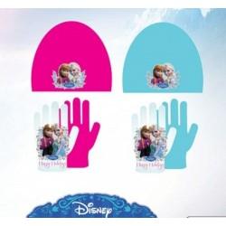 Set ensemble 2 pièces Bonnet + gants Polaire Reine des Neiges Frozen Disney enfant fille neuf