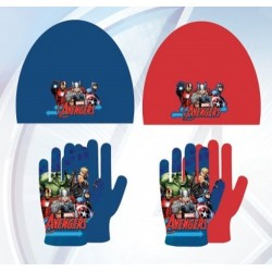 Set ensemble 2 pièces Bonnet + gants Polaire Avengers Marvel Disney enfant garcon neuf