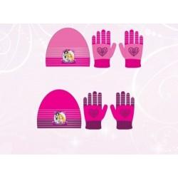 Set 2 pièces Bonnet + gants Princesse Disney enfant fille vetements hiver neuf