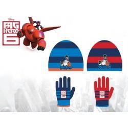 Set 2 pièces Bonnet + gants Big Hero 6 Disney enfant garcon vêtements hiver neuf